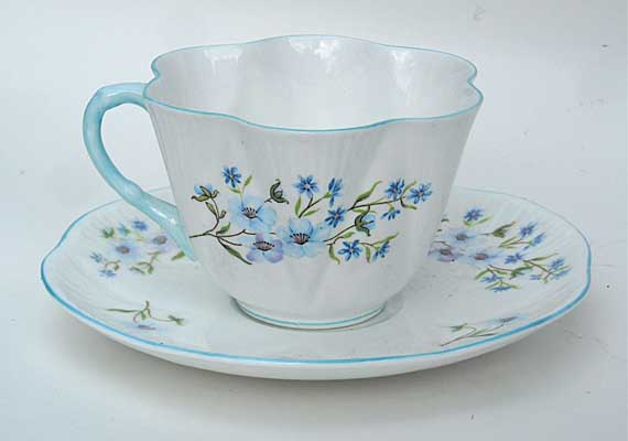 Colette's first tea cup, a Shelley